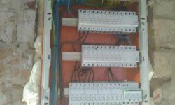 priebeh elektroinštalácie - montáž rozvádzača RD
